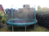 14ft TP Trampoline with Safety Poles for Netting
