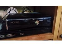 Xbox 360 with Kinect, huge bundle, lots games, guitars and steering wheels controllers, must see,