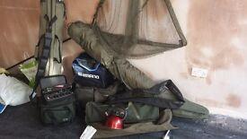 Carp fishing gear.grays, sonik,shimano