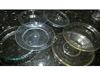 PYREX OVEN TO TABLEWARE PIE TART PLATES GLASS COLECTION