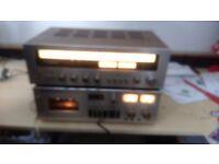 Technics FM/AM Stereo Receiver SA-5270 & Stereo (single) Cassette Deck 871