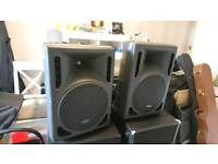 Stagg SMS12P Powered PA speakers