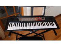 Yamaha PSR F50 Keyboard - Black , Keyboard Stand and Keyboard Chair