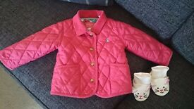 Joules jacket and slippers size 12 to 18 months.