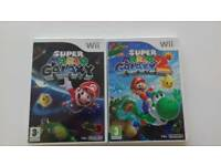 Nintendo wii super Mario galaxy 1 & 2 games