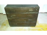 Solid brown chest drawers