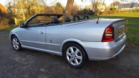 2005 astra bertone convertible. Silver. Really nice example. New MOT and low miles.