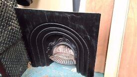 Cast iron fireplace insert 94.5 cm x 94.5 cm