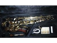 Trevor james-Artermis-Alto Saxophone. Black and gold with Mother of Pearl Keys