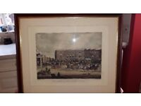 """""""The Elephant & Castle on the Brighton Road"""" framed engraving"""