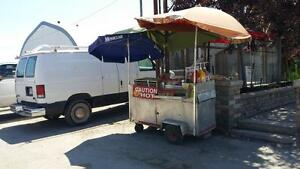 HOT DOG CART WITH LOCATION FOR SALE