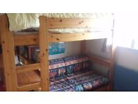 Stompa Bed, Single upper bed with pull out sofa and desk space.