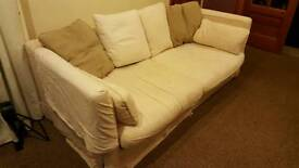 Cream sofa with washable covers