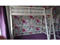 IKEA Stora Single LOFT BED + DESK High Sleeper Cabin Bunk Mezzanine real wood delivery