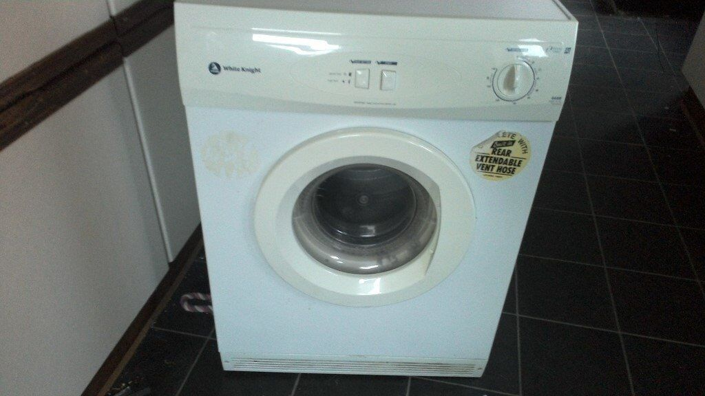 Full Size White Knight 6kg Tumble Dryer Revers Tumble Full Working Order Vented