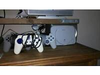 PS1 Console with 3 controllers