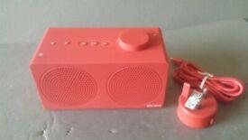 New John Lewis & Partners Spectrum Portable Bluetooth Wireless Speaker Berry Red