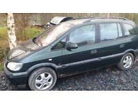 Vauxhall Zafira 2.2 16v. Repairs or spares