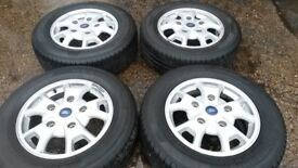 """16"""" GENUINE FORD TRANSIT CUSTOM LIMITED ALLOY WHEELS / TYRES"""