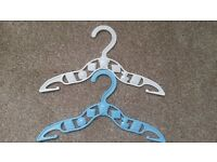 BABY CLOTHES HANGERS (in blue and white)