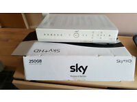 Sky Plus HD box 250gb with power cable, scart and remote