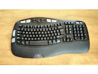 Logitech Wireless Keyboard - K350 Ergonomic Wave Design