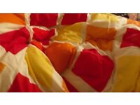 Sleeping Bag Double Heavy and feels Warm Bright Box Patterned