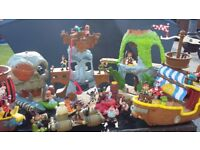Jake and the Netherland pirates, various toys and charactures.
