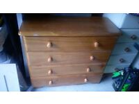 Chest of drawers & matching wardrobe