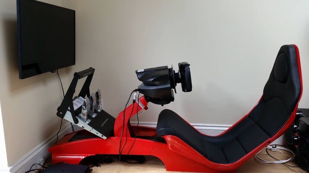 Set Of Racing Simulator 32 Tv Wheel And Pedals Thurtmaster