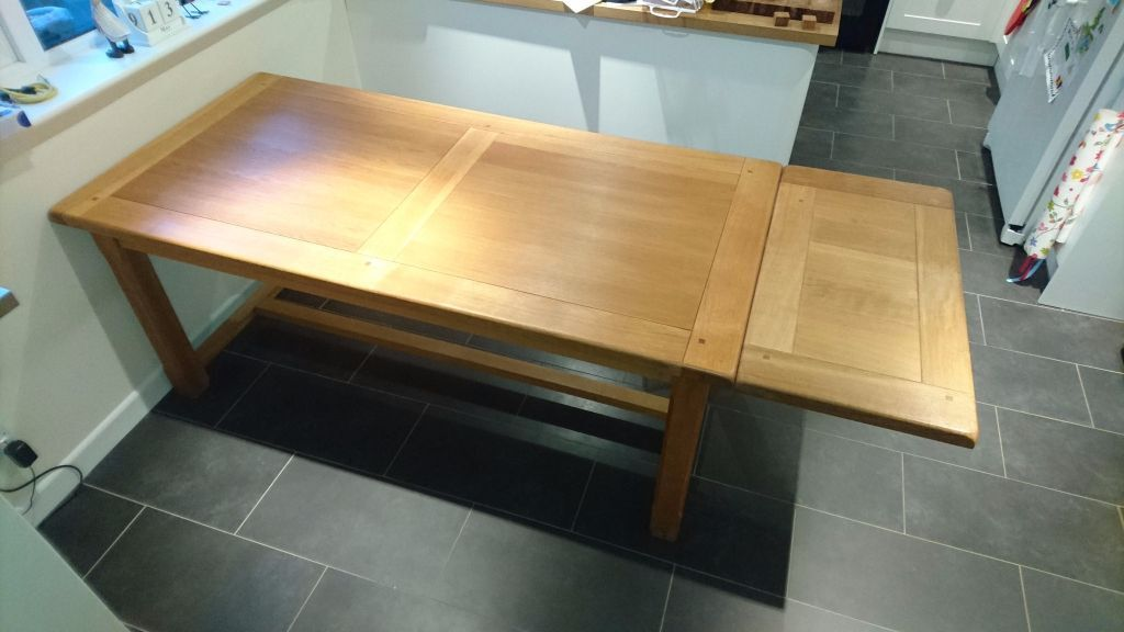 Oak Dining Kitchen Table With Extension Leaf