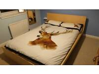 IKEA Malm double bed and IKEA Hovag mattress