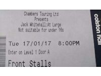 2x front row jack whitehall Tickets
