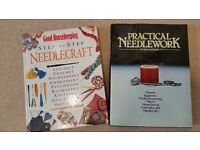 SEWING BOOKS - 2 Hardcover Books for Needlework /Needlecrafts (Sewing Craft Kits also available)