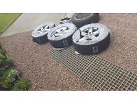 "Audi alloys 17""set with winter tyres"