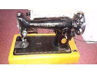 Singer Sewing Machine, 1936, EA855593, working