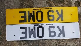 K9 OME NUMBER PLATE FOR SALE