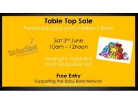 Table Top Sale - Pre-loved Baby and Children's items - Chipping Sodbury