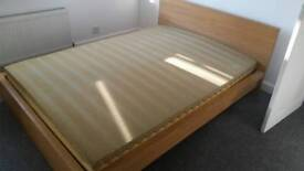 Ikea sultan King size bed frame and mattress