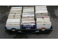 ex dj record case + 450 singles