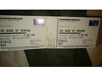 2 x book of Mormon tickets