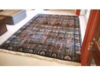 Handmade Silk Rug from Kashmir, large size