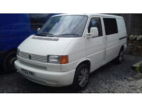VW T4 Campervan. Low mileage for year. Good running order. Many parts.