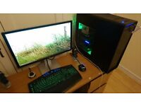 GAMING PC TOWER + MONITOR + KEYBOARD + MOUSE