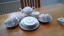 Wedgwood tea set gardenia pattern