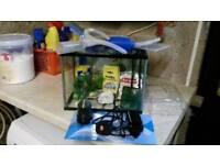 Glass fish tank 12 litre --- for children