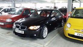 BLACK BMW 320I AUTO RED LEATHER SEATS £6995 78,000 MILES