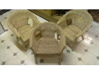 3 x CHILDS RATTAN CHAIRS