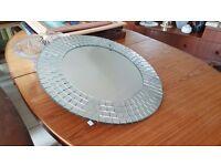 Circular Tiled Bathroom Mirror in Great Condition