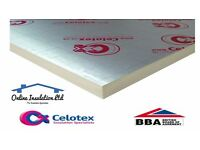Celotex Insulation Boards, Dritherm, Loft Insulation, Plasterboard, Lowest Prices & Free Delivery